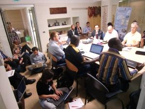 The uber-well attended 'social media for development' session