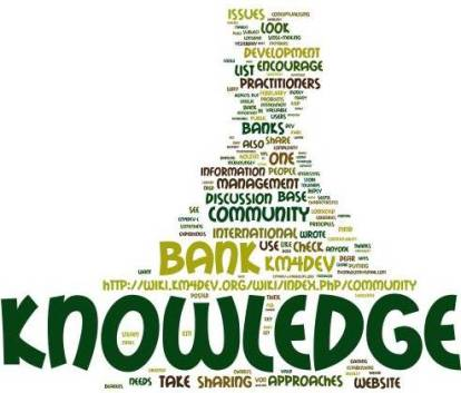 The 'Knowledge bank' discussion wordle