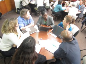 Participants grappling with the thorns of social learning in the CCAFS workshop