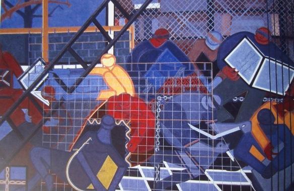 Will knowledge safeguard freedom (painting by Uzo Egonu)
