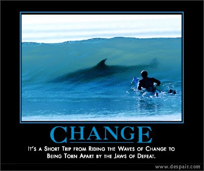 Managing change can lead us to catastrophes... let's think carefully how to surf it