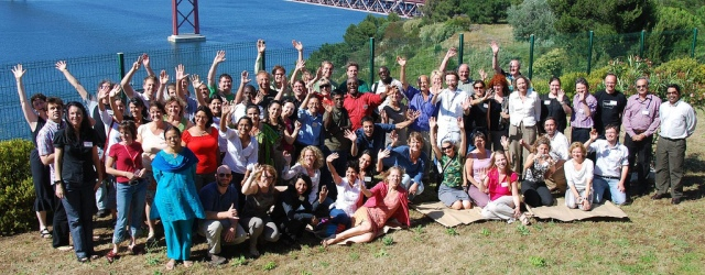 The KM4Dev group at the annual meeting in Almada, 2008 (Credits: unknown)