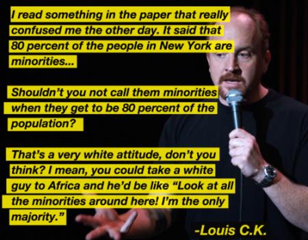 Minority thinking via Louis CK (Credits I.Imgur)