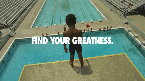 Be pro-active, find your greatness, inspire others. Just do it! (Credits: Nike)