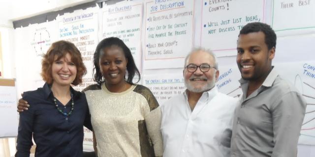 Nelli Noakes, Sam Kaner and ILRI staff (Credits: ILRI)